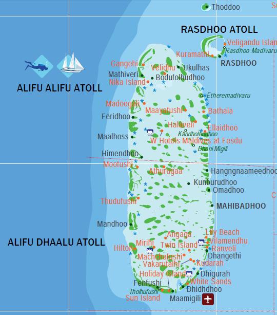 Map Of Ari Atoll Maldives