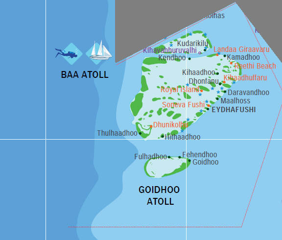 Map Baa Atoll Maldives Islands