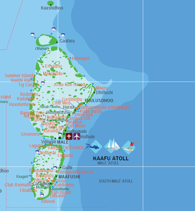 mapa do atol de Malé