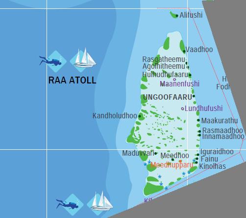 Map Of Raa Atoll Maldives