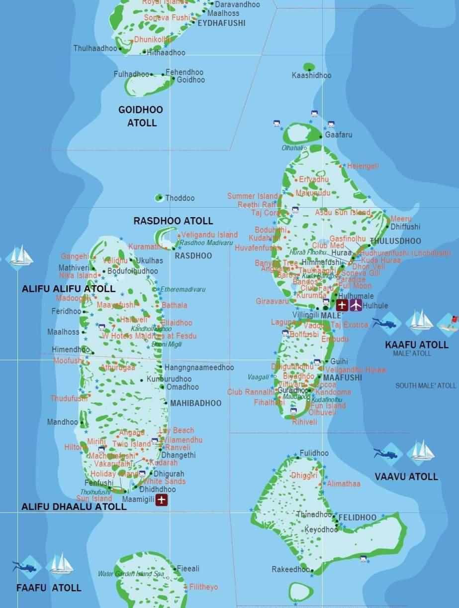 Map Of Maldives Islands Map of the Maldives